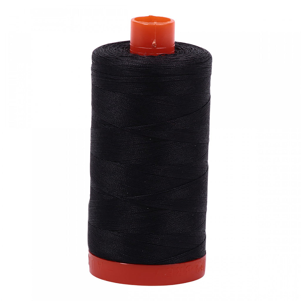 #MK50-4241 100% Cotton Aurifil 50wt Very Dark Grey