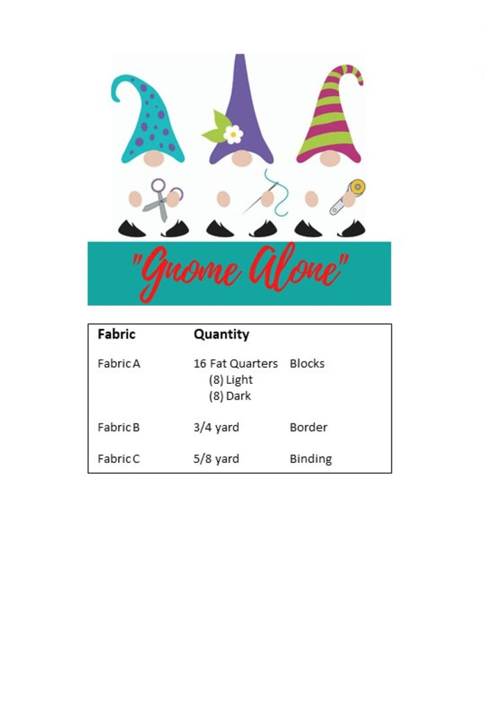 Gnome Alone Quilt Pattern