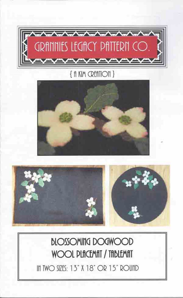 """Blossoming Dogwood"" Placemat Pattern"