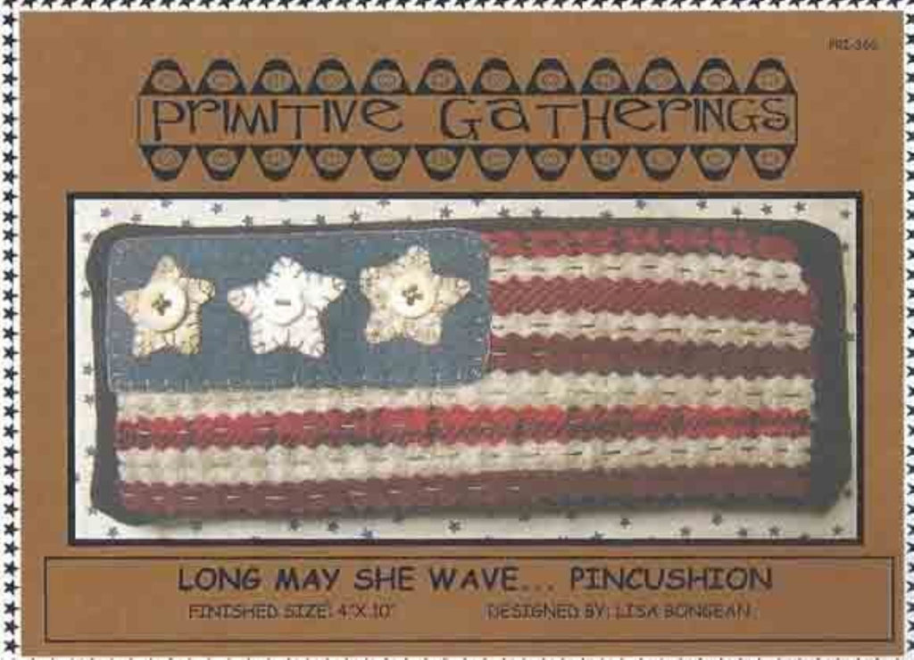Long May She Wave Pincushion Pattern