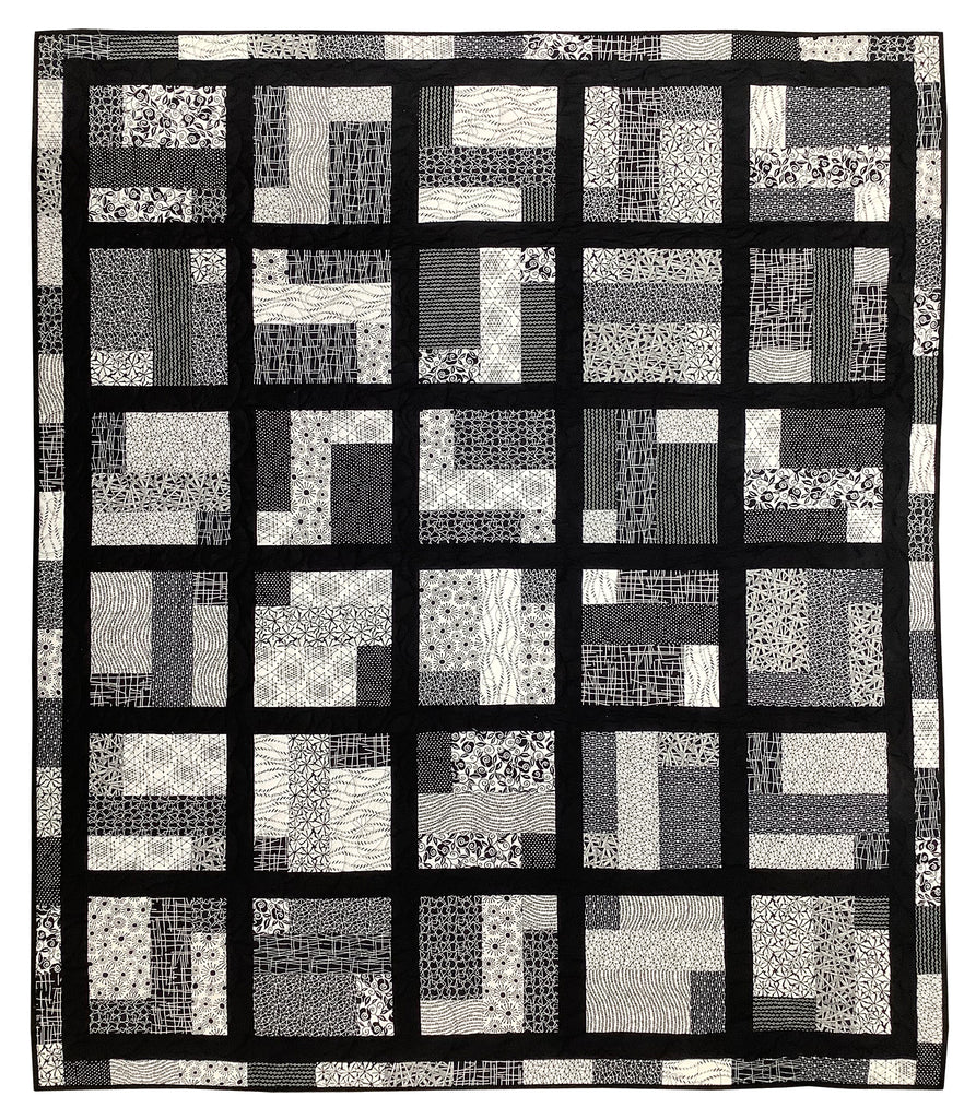 """February Mama - Black & White"" Quilt Kit"