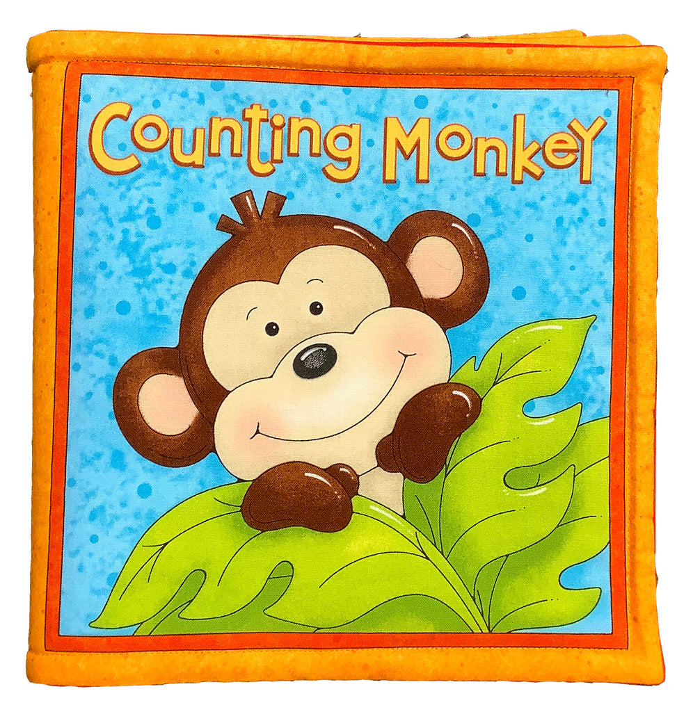 """Counting Monkey"" Book Panel"