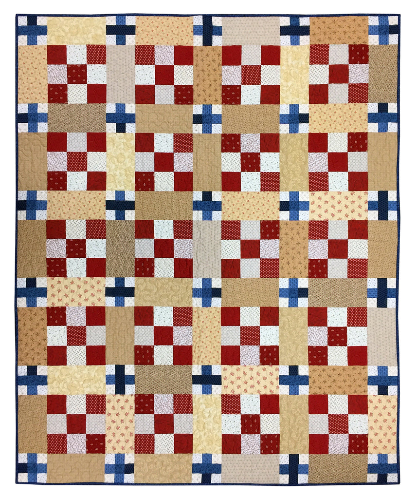 All American Sweetly Stitched Quilt Kit