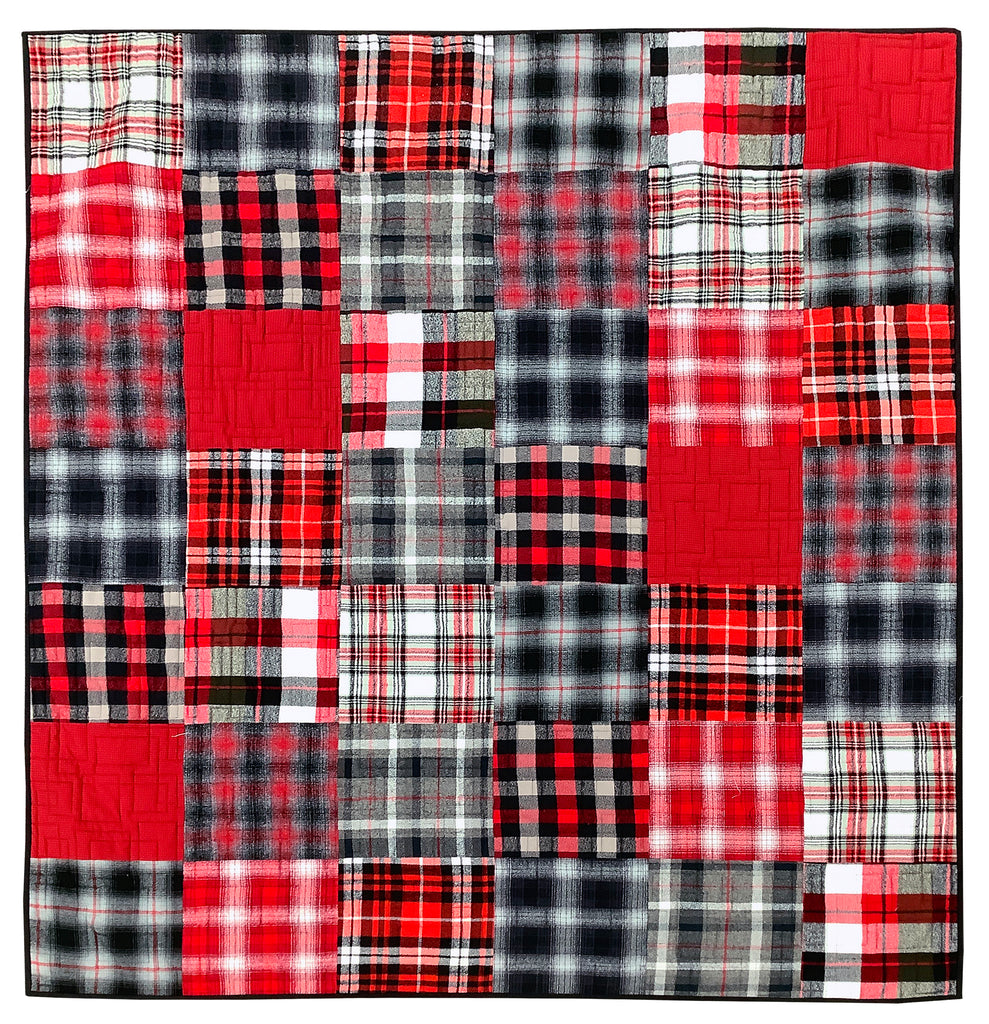Squarely Layered Quilt Kit - Reds