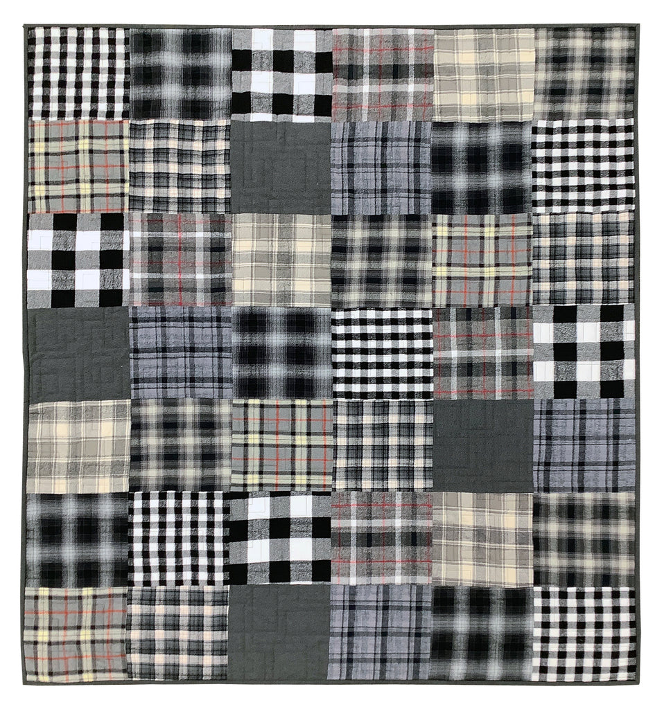 Squarely Layered Quilt Kit - Black & White