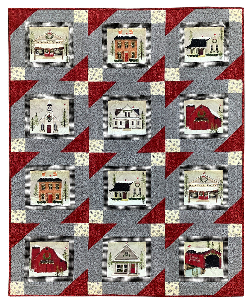 Ahoy Framed Snow Village Quilt Kit