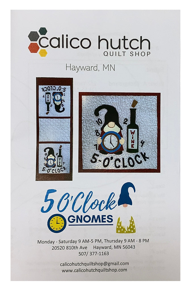 5 O'Clock Gnomes Table Runner Pattern