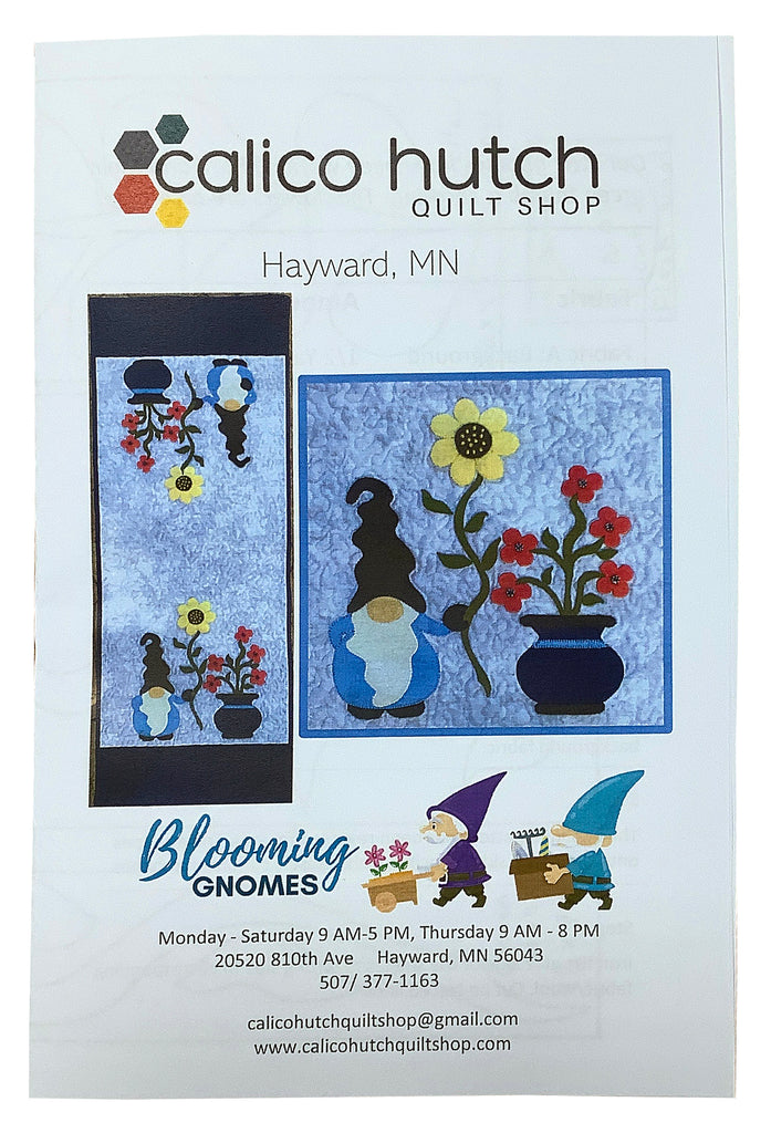 Blooming Gnomes Table Runner Pattern