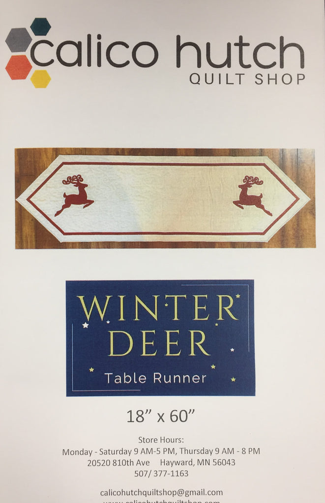 Winter Deer Table Runner Pattern