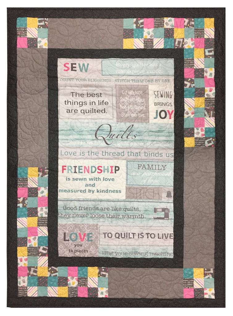 Words to Quilt By Quilt Kit