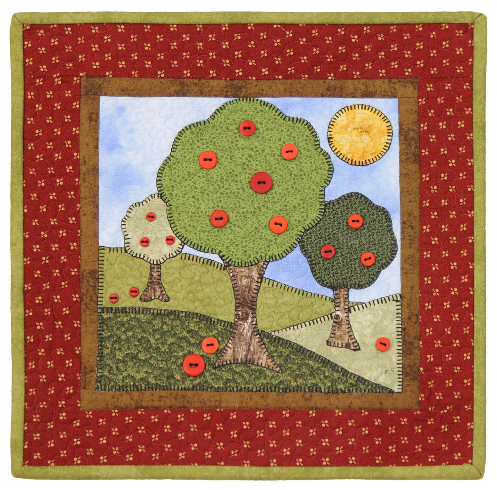 Apple Harvest Little Quilts Squared Mini Quilt Kit