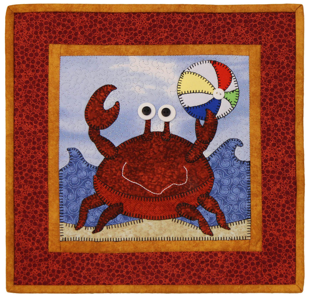August Beach Fun Little Quilts Squared Mini Quilt Kit