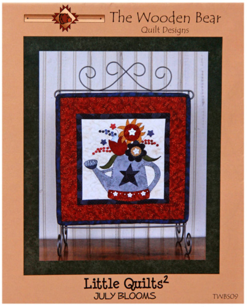 """July Blooms"" Little Quilts Squared Mini Quilt Pattern"