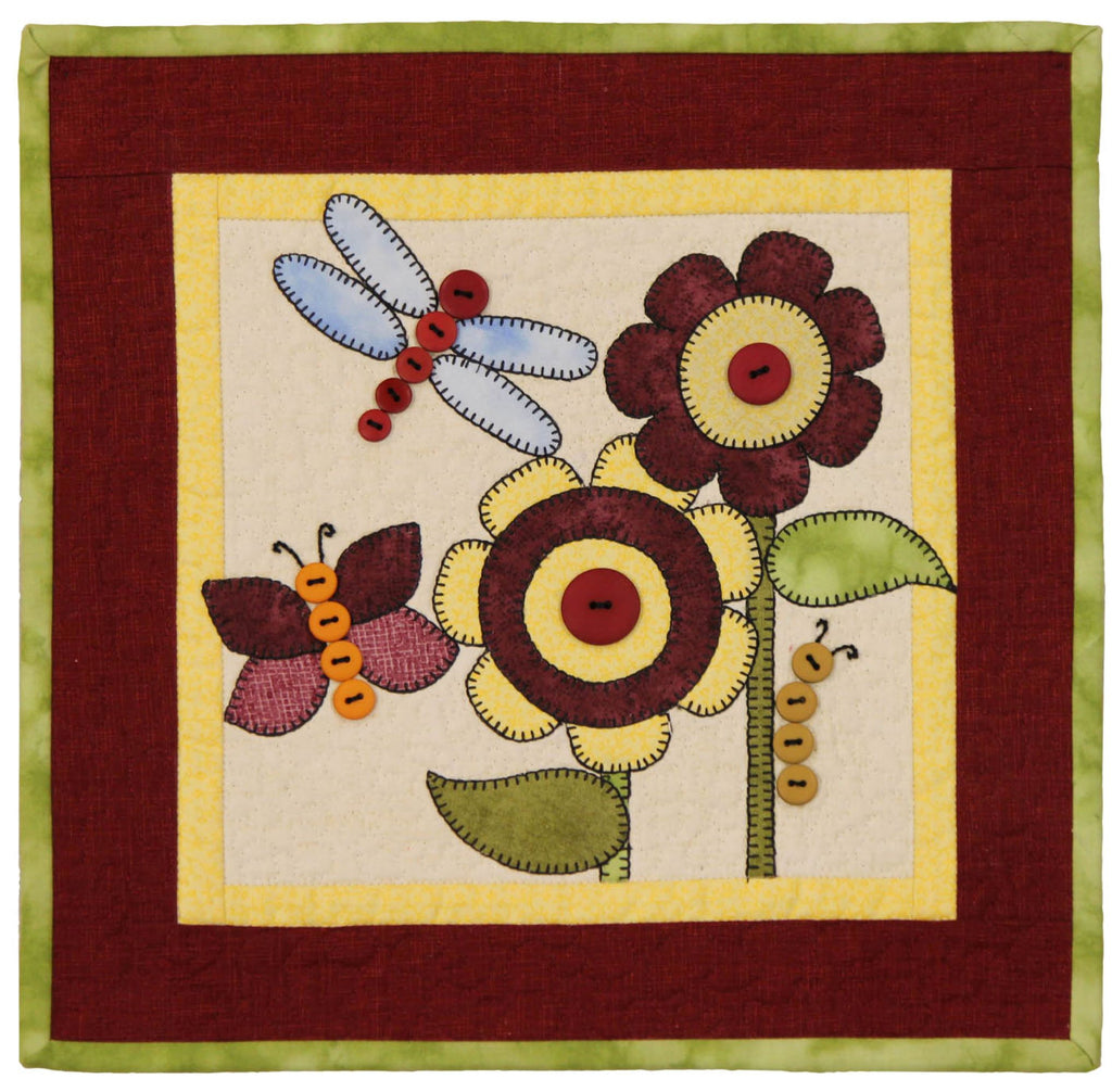 June Bugs Little Quilts Squared Mini Quilt Kit