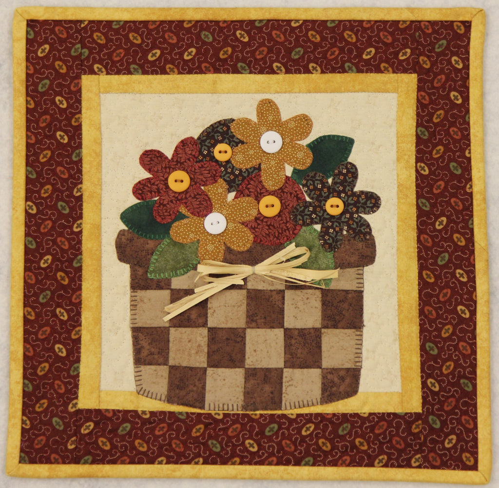 May Flowers Little Quilts Squared Mini Quilt Kit