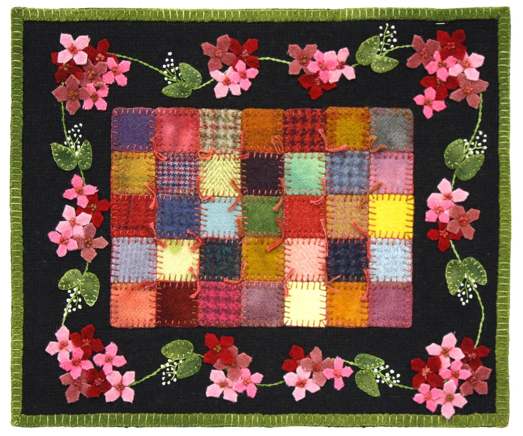 Little Granny Quilt Garden Pink Wool Kit
