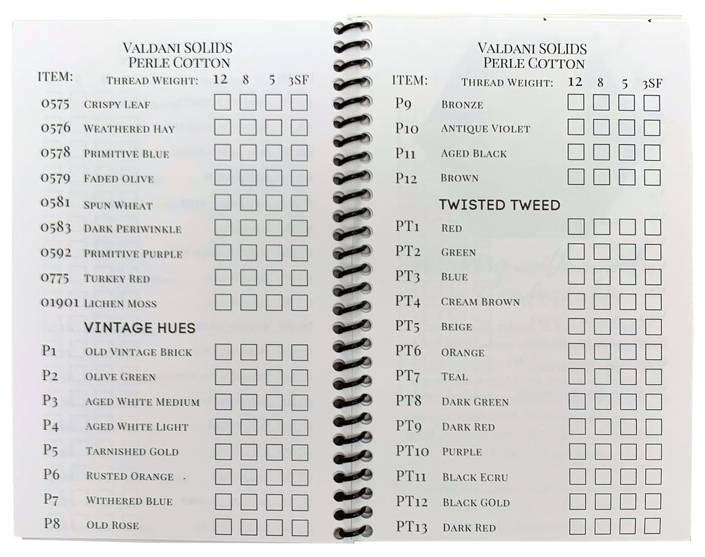 My Collection of Valdani Threads Booklet