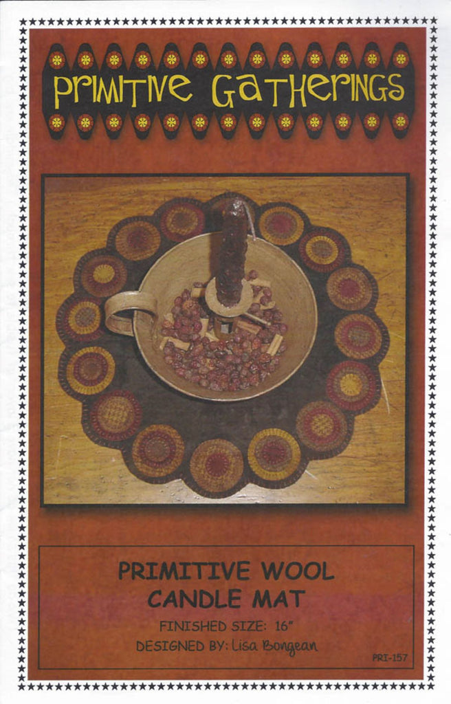 """Primitive"" Candle Mat Pattern"