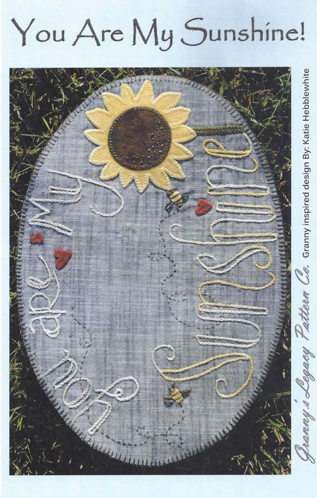 """You Are My Sunshine"" Wool Pattern"