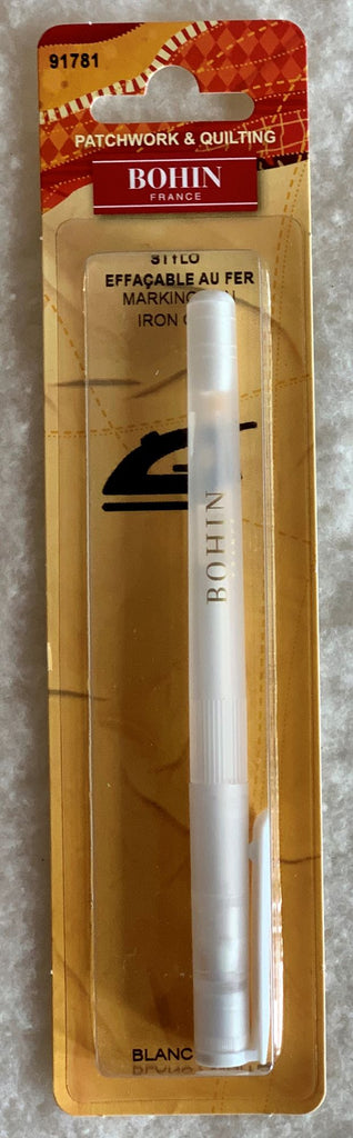 Bohin Iron-Off Marking Pen - White107384