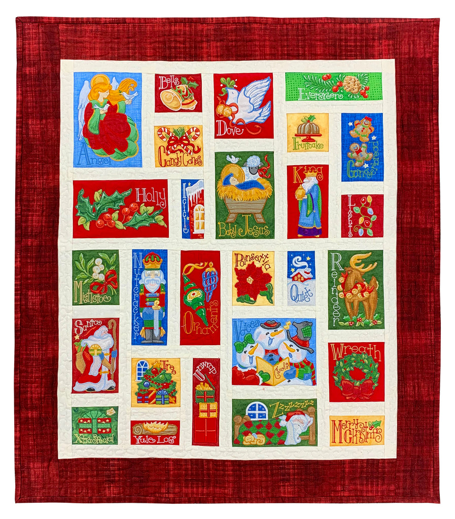 Christmas Alphabet Machine Embroidery Designs CD