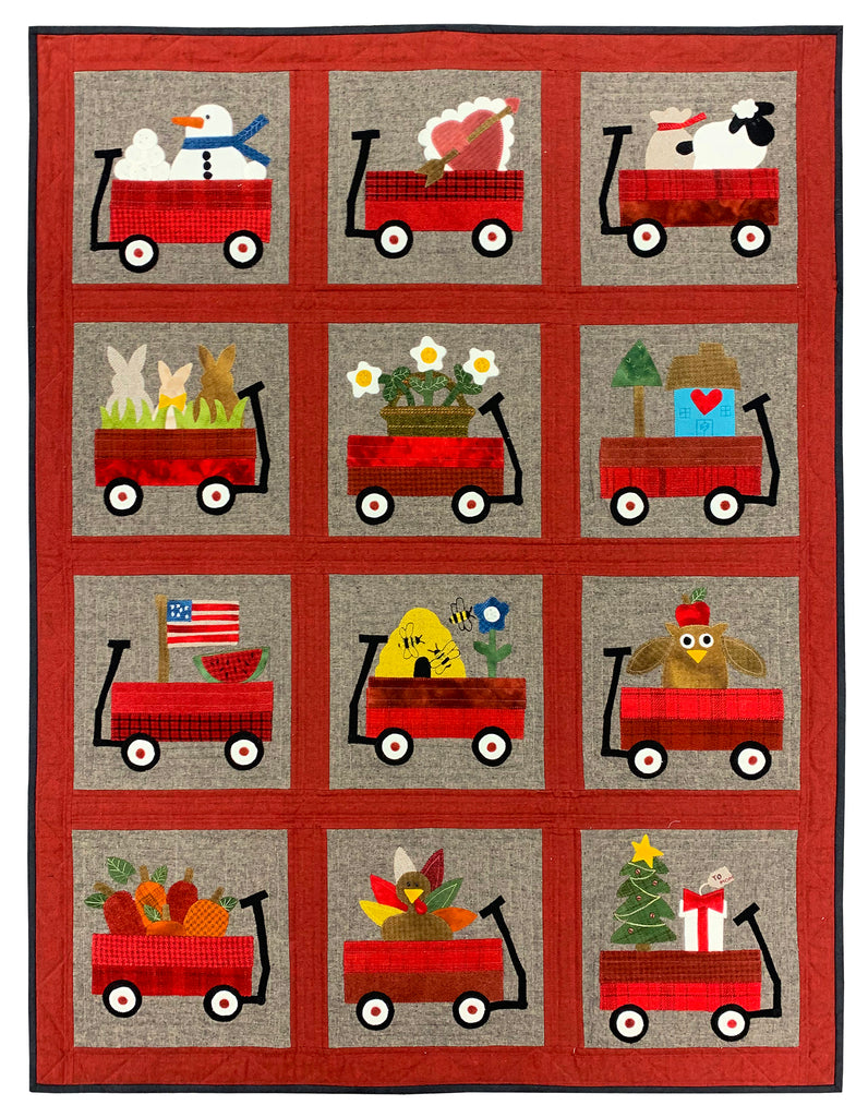 My Wooly Red Wagon Quilt Kit