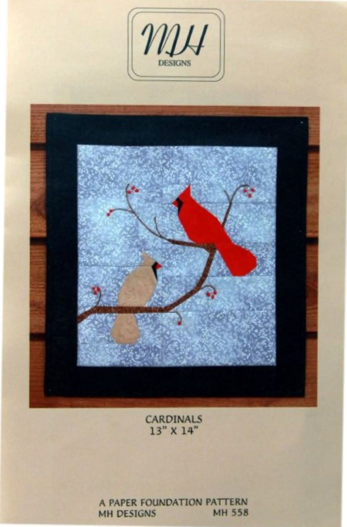 """Cardinals"" Mini Quilt Pattern"