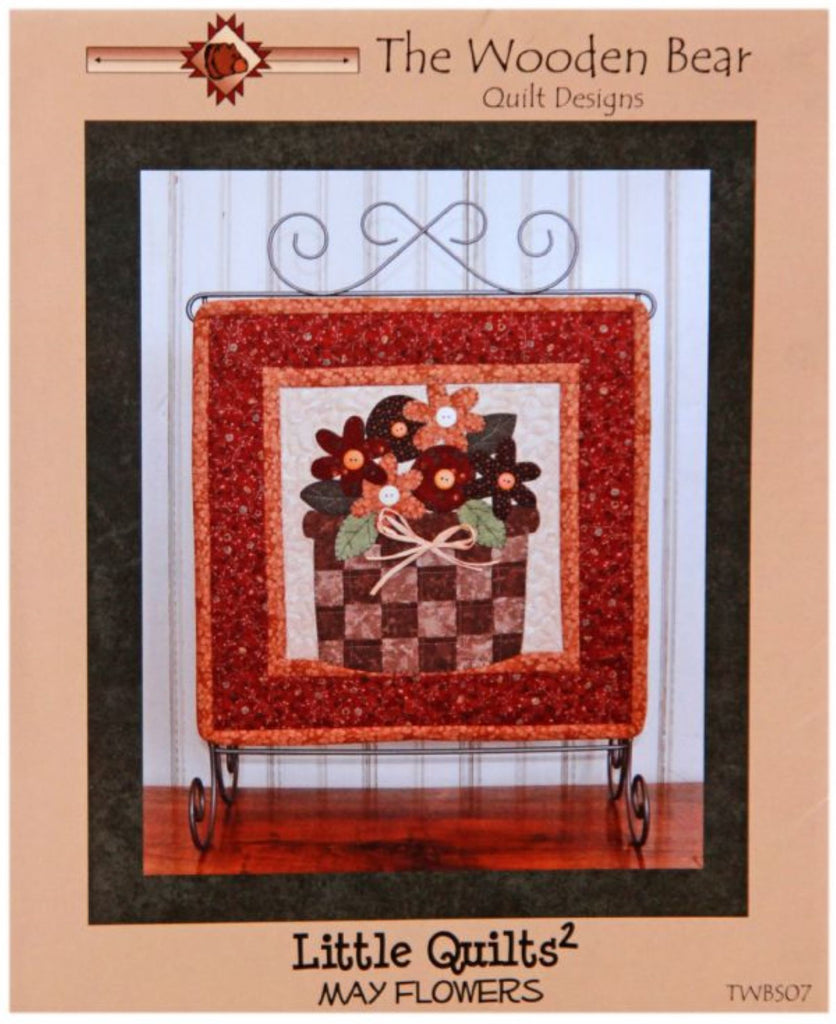 May Flowers Little Quilts Squared Mini Quilt Pattern