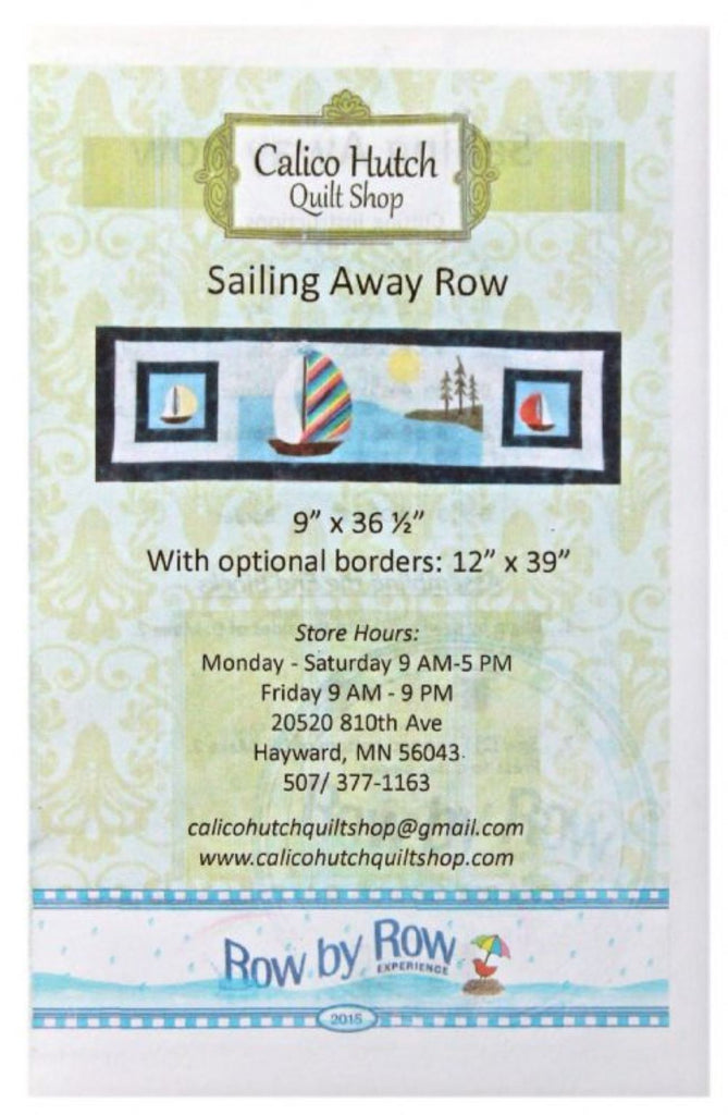 """Sailing Away"" Row by Row Pattern"
