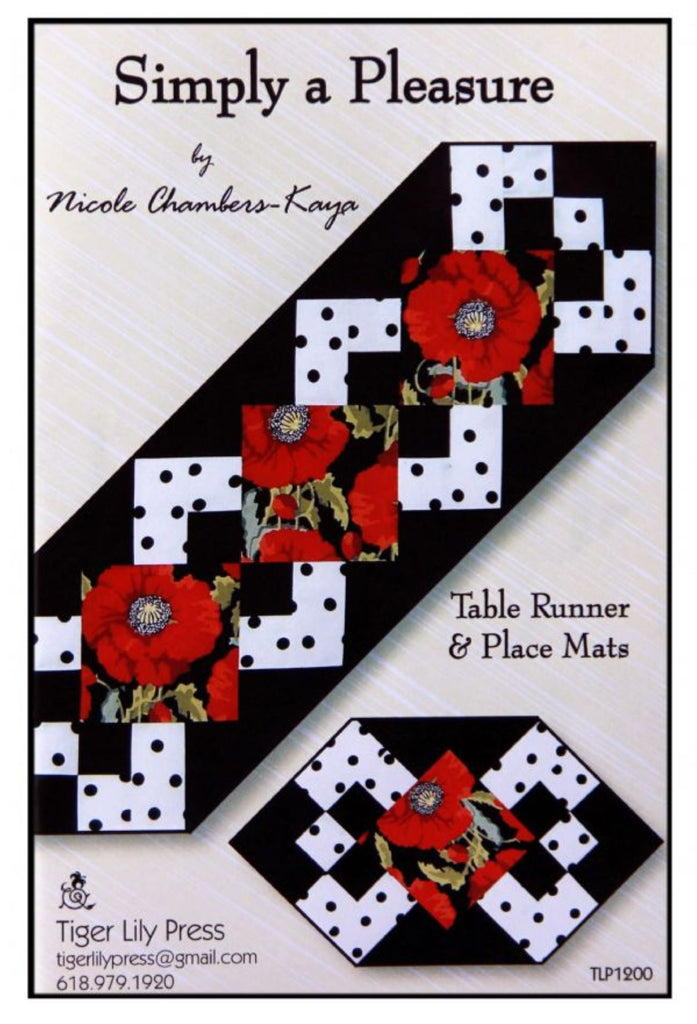 """Simply a Pleasure"" Table Runner Pattern"
