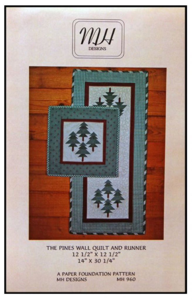 """The Pines"" Runner & Mini Quilt Pattern"