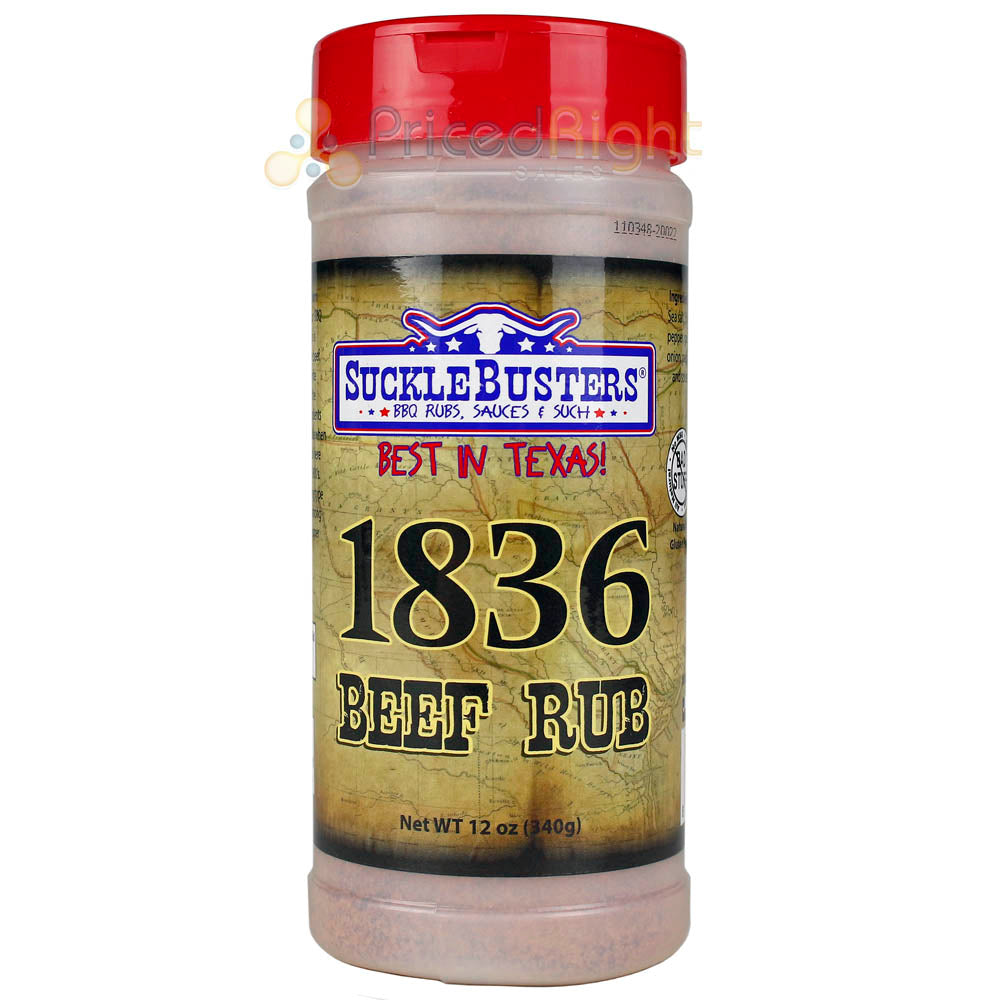 Suckle Busters 12 Oz 1836 Beef Barbecue Dry Rub Award Winning Gluten & Msg Free