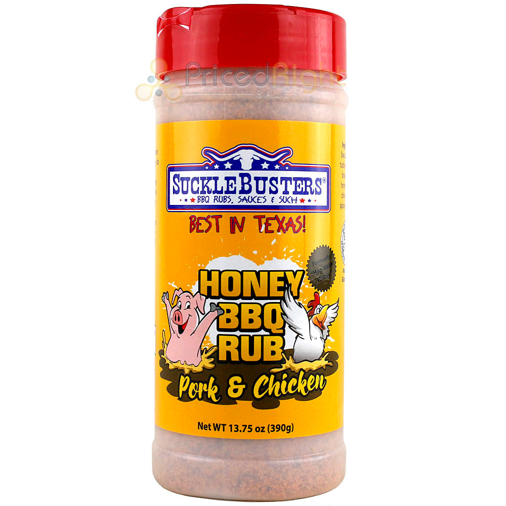 Suckle Busters 13.75 Ounce Honey Bbq Pork & Chicken Dry Rub Competition Rated