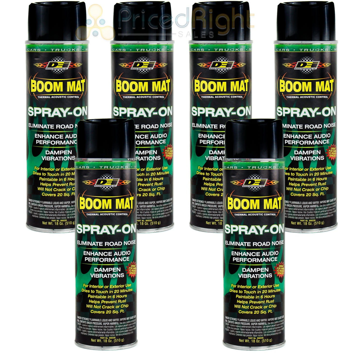 Sound Deadening DEI Boom Mat Spray On 6 Pack Enhance Audio Eliminate Road Noise