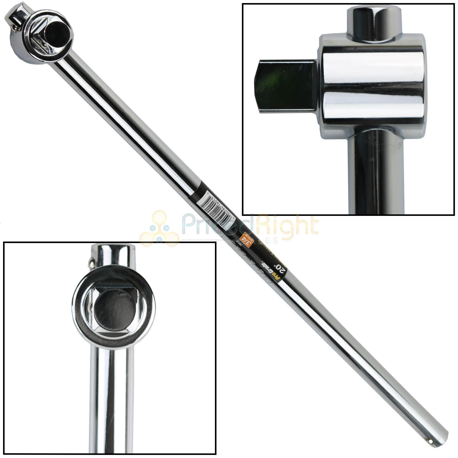 "Pro Grade 20"" 3/4 Drive Sliding T-Handle Socket Wrench Breaker Bar Heavy Duty"