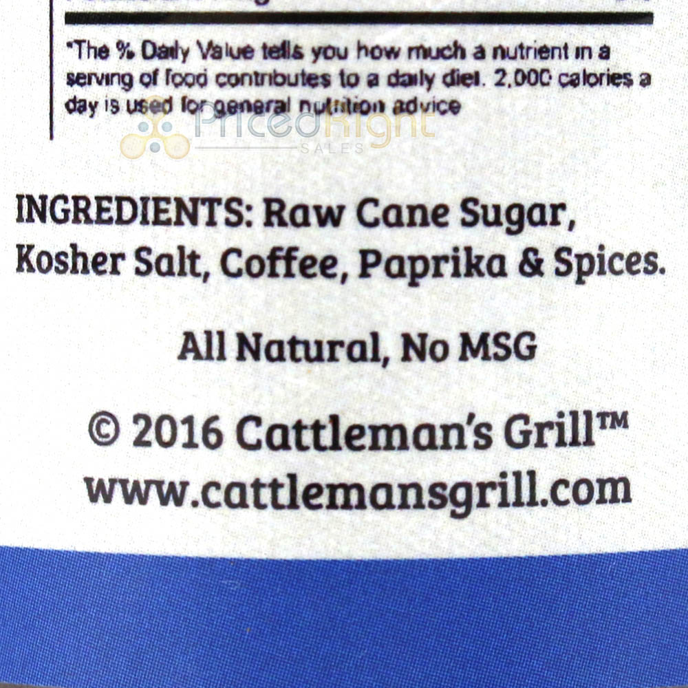 Cattleman's Grill Original Cowboy Coffee Steak Seasoning 6.3 Oz. Signature Blend