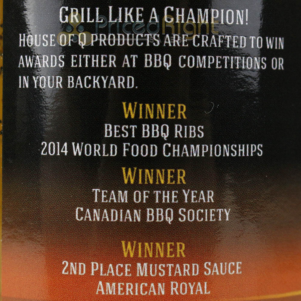 House of Q Slow Smoke Gold BBQ Sauce & Slather or Marinade 12 Oz Jar Gluten Free