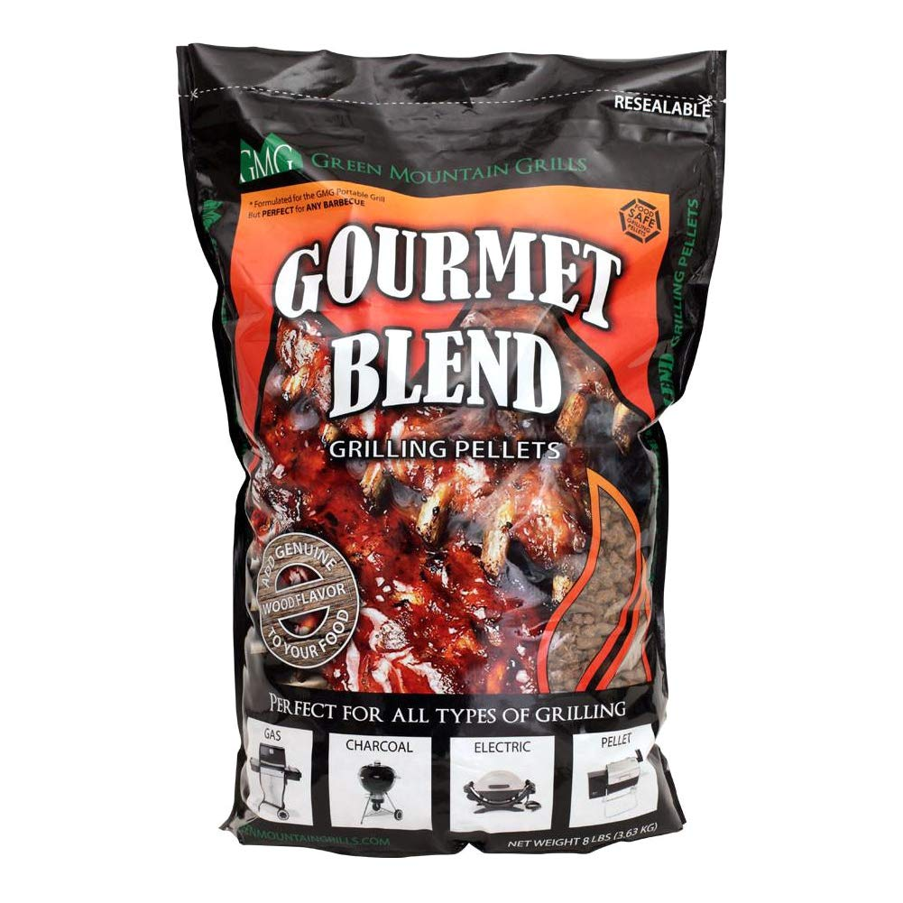Green Mountain Grills Gourmet Pellet Blend 8 lb Bag Hickory Black Oak Mesquite