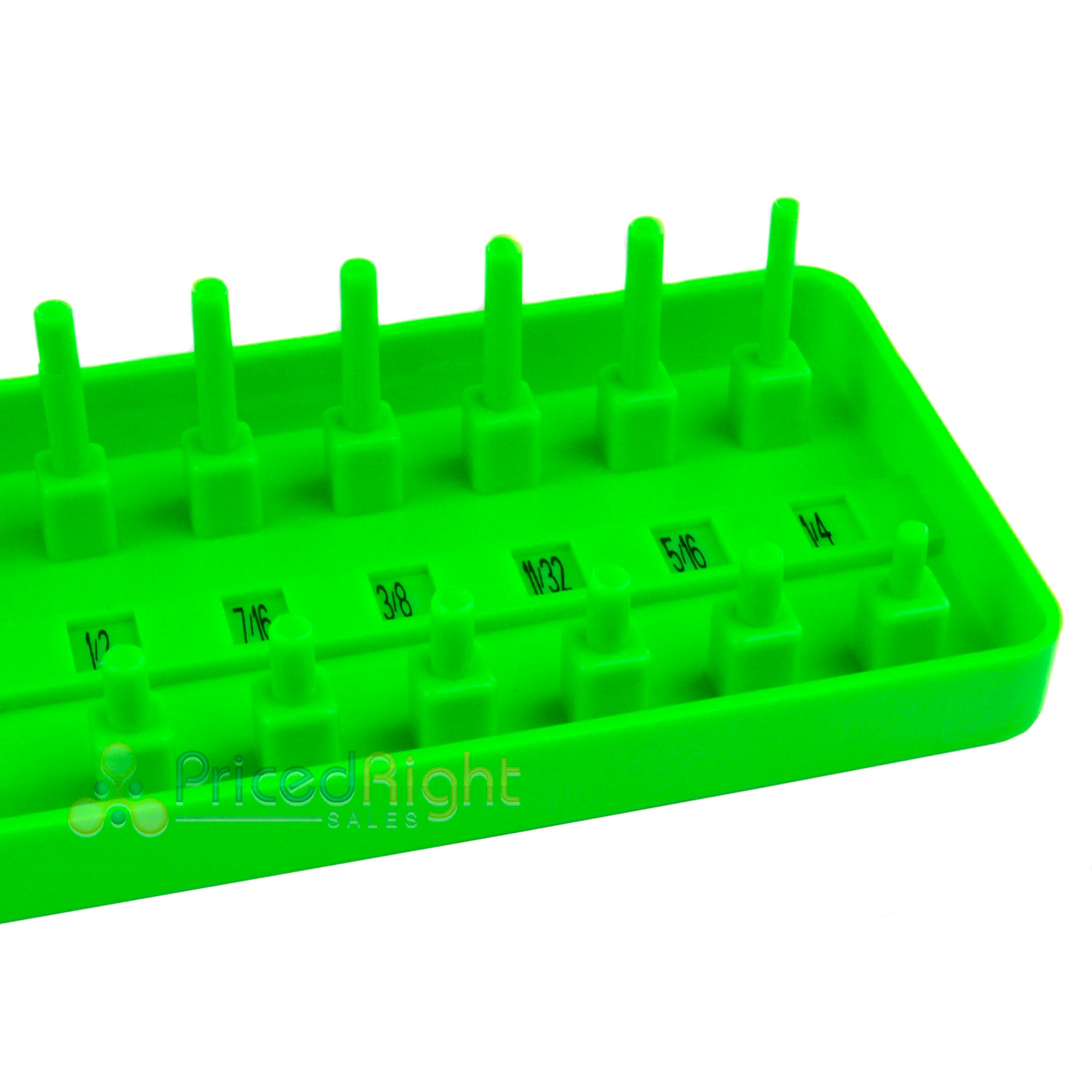 "GRIP 3/8"" Socket Tray Holder Metric SAE Sliding Selector Universal Green 67262"