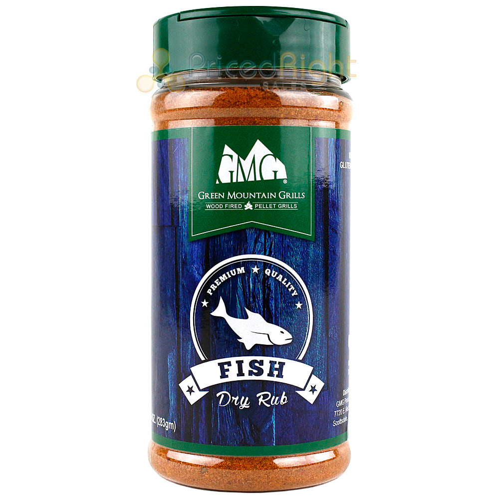 Green Mountain Grills Fish Dry Rub BBQ Seasoning Gluten Free Premium Quality