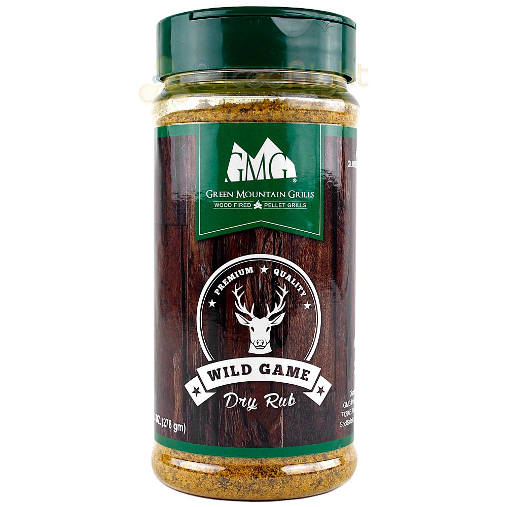 Green Mountain Grills Wild Game Dry Rub Seasoning 9.8 oz Bottle Gluten Free