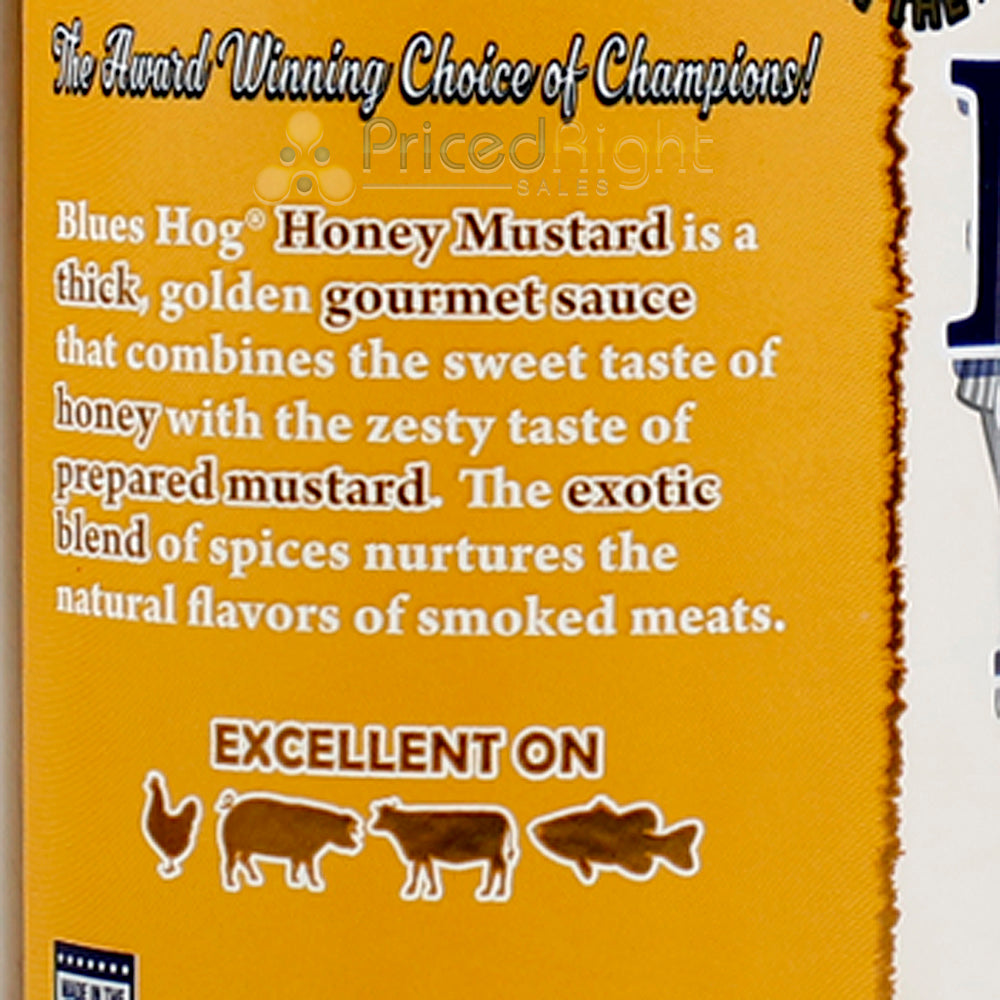 Blues Hog Original BBQ 25 Oz and Honey Mustard Sauce 21 Oz Squeeze Bottle 2 Pack