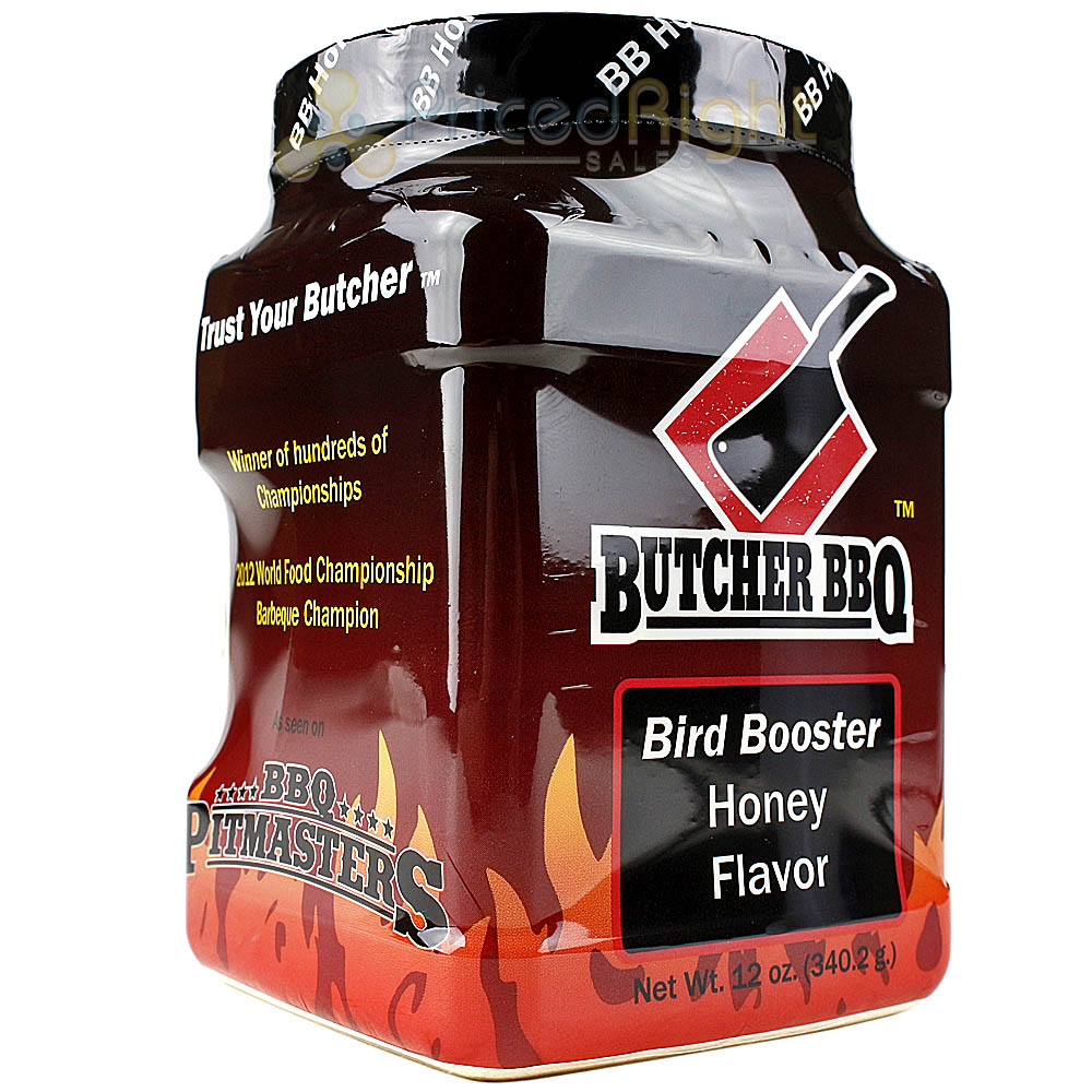 Butcher BBQ Bird Booster Honey Injection Seasoning 12 oz. Gluten and MSG Free