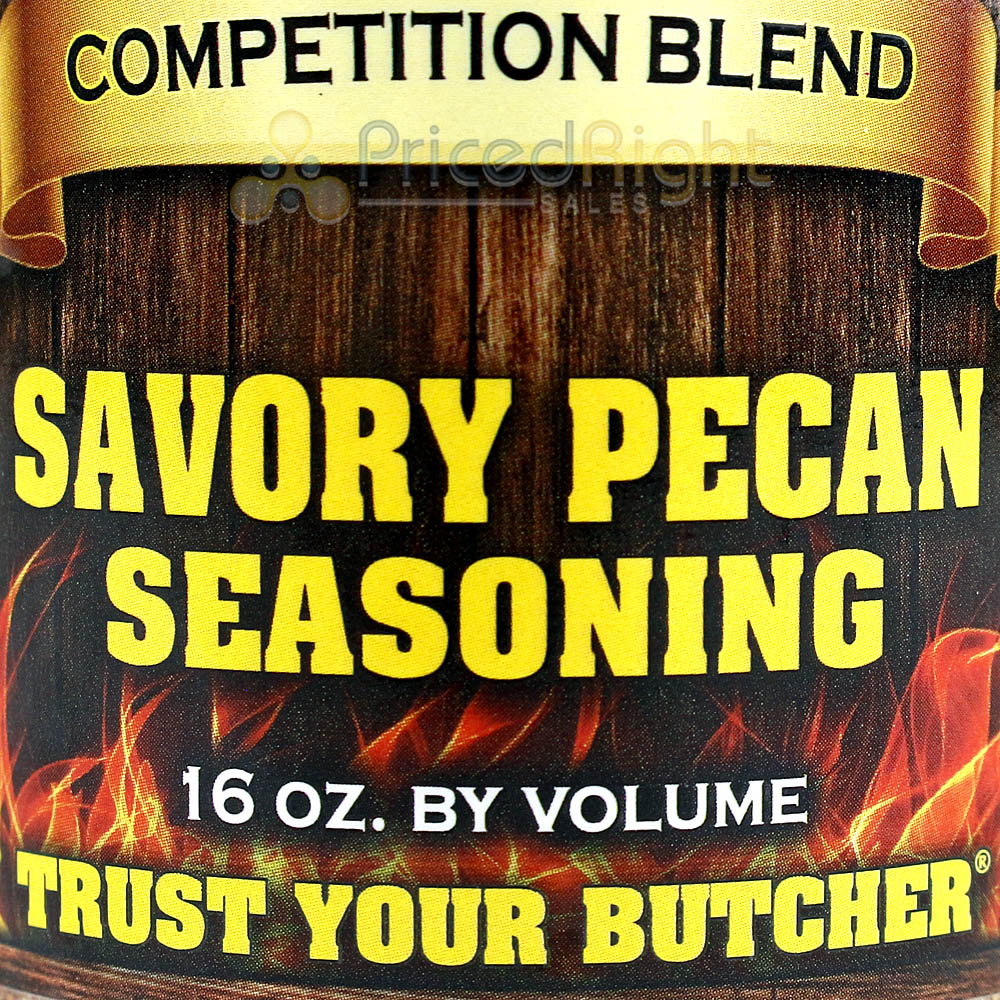 Butcher BBQ Savory Pecan Signature Blend 16 oz BBQ Dry Rub Seasoning Gluten Free