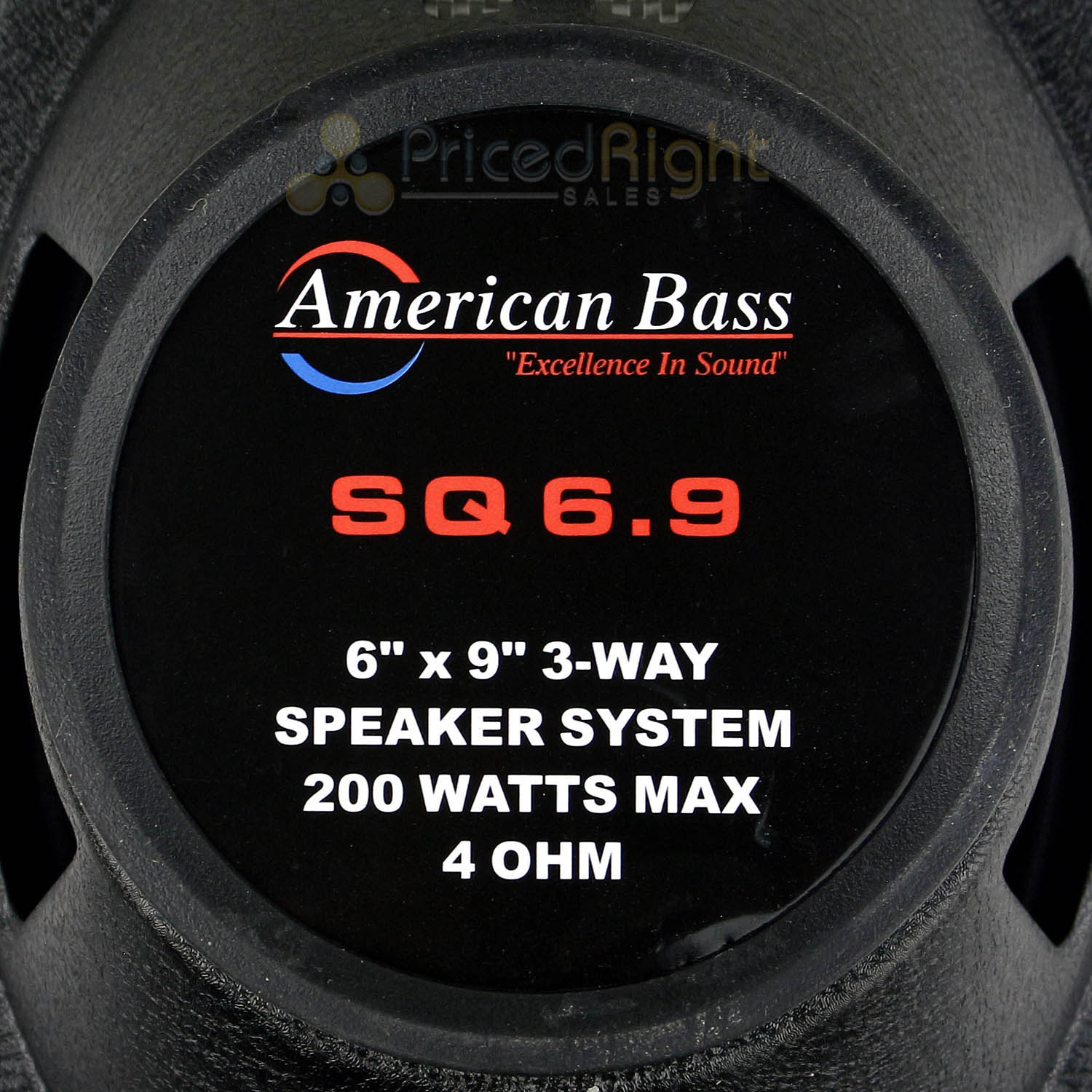 "4 Pack 6x9"" 3-Way Coaxial Speakers 200W Max Grill American Bass Car Audio"