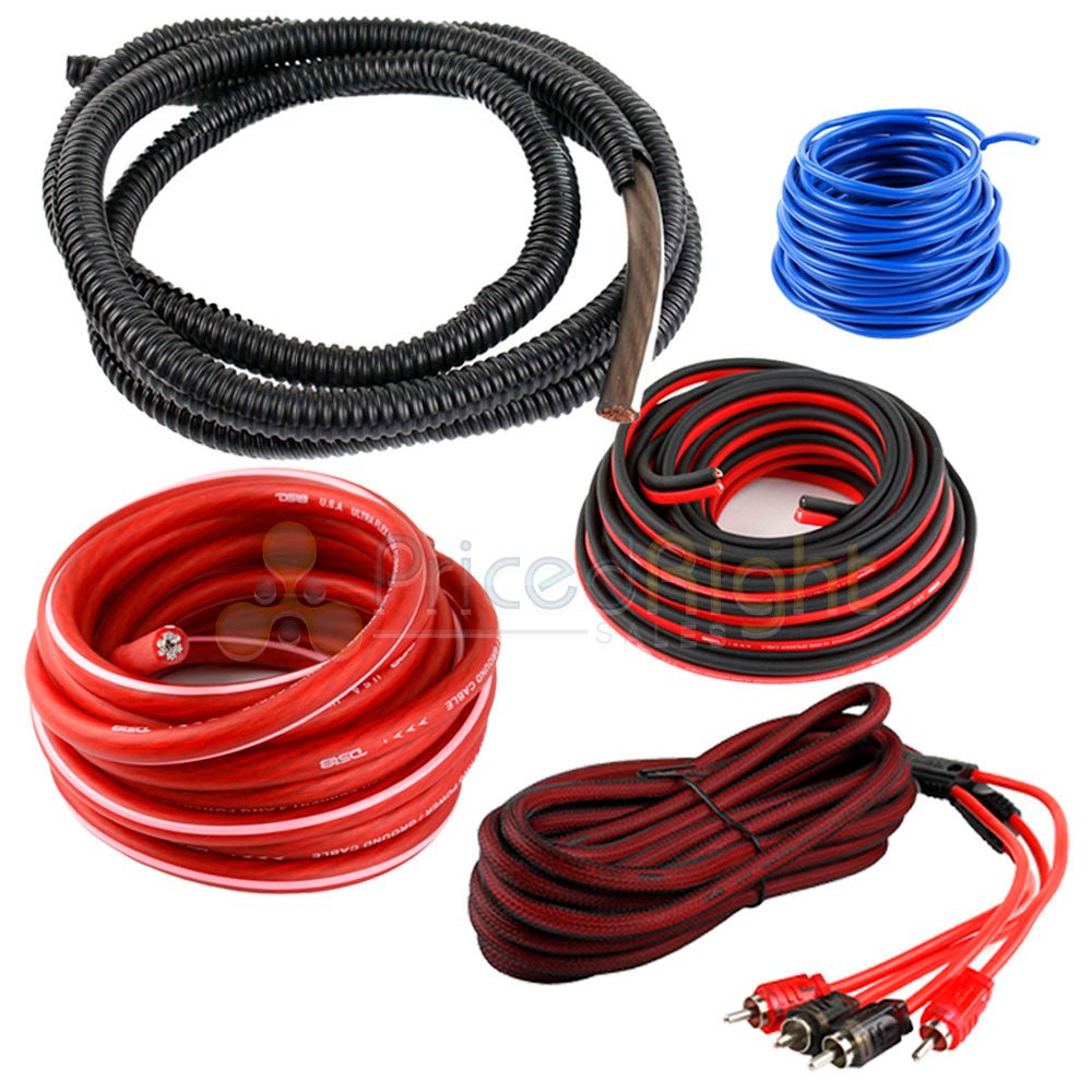 DS18 4 Gauge Amp Kit WIring Amplifier Complete Install Cables AMPKIT4