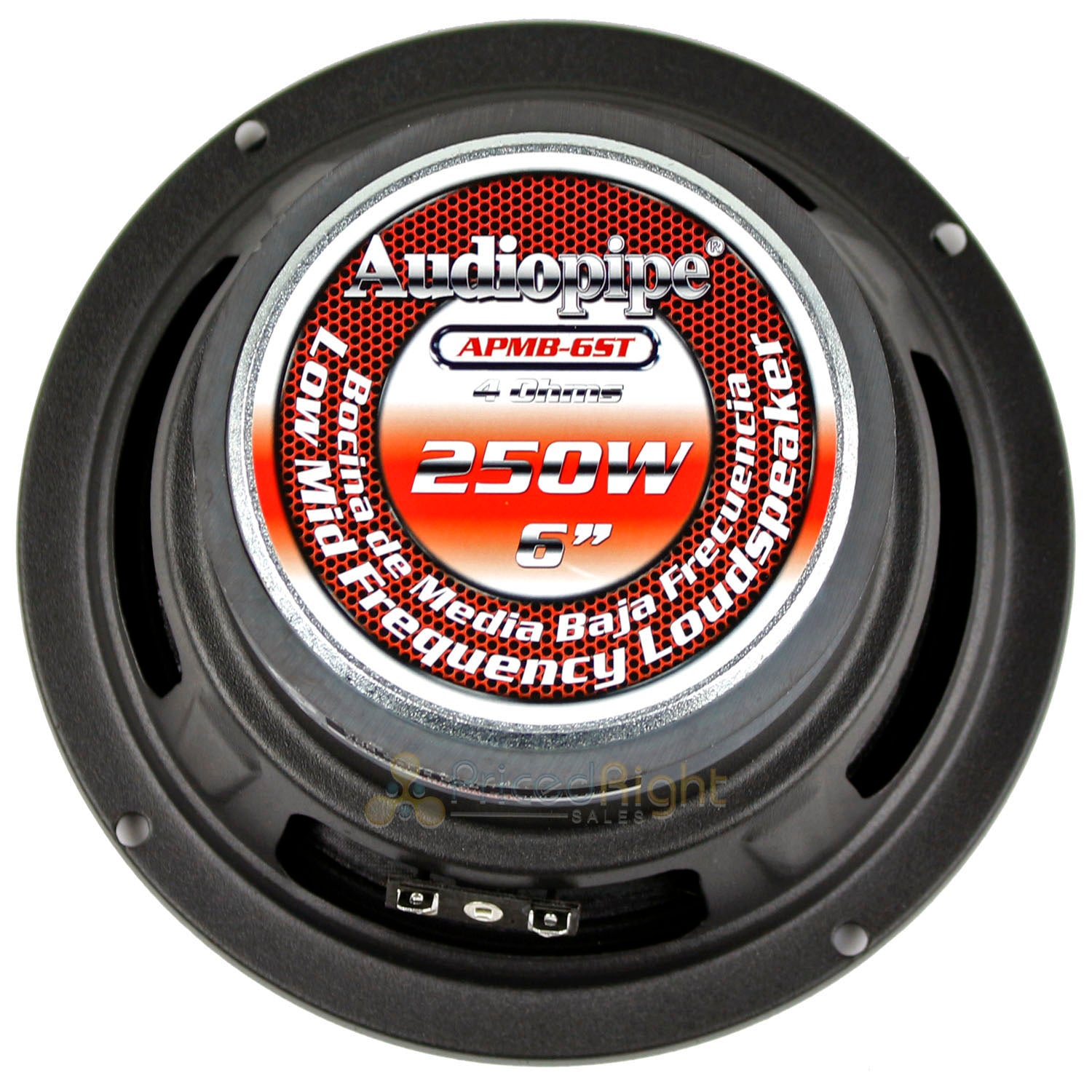 "2 Audiopipe 6"" Inch Low Midrange Speaker 400 Watts Max Pair Pack 4 Ohm APMB-6ST"