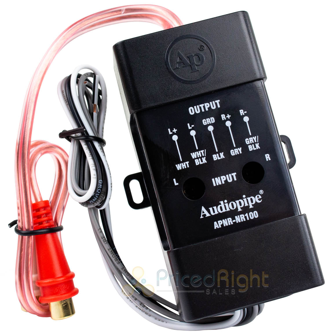 Audiopipe RCA Line Output Converter Power Amp Adapter Hi Low Impedance  NR100 Audiopipe RCA Line Output Converter Power Amp Adapter Hi Low  Impedance