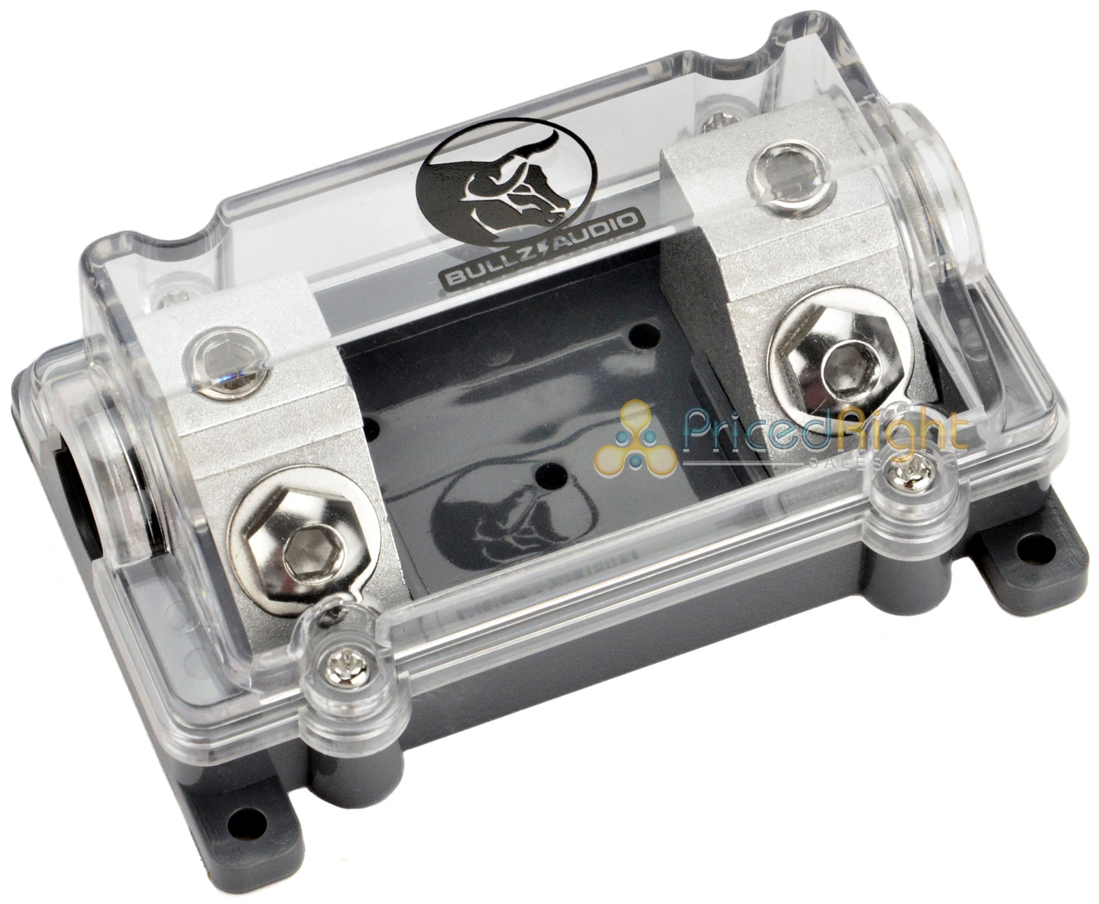 Inline 0 2 Gauge ANL Fuse Holder In Line Bullz Audio Platinum Plated Car Amp