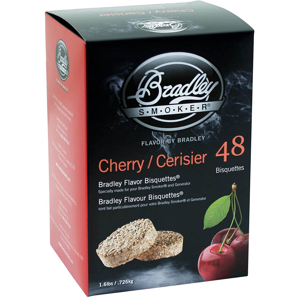 Bradley Smoker Cherry Flavor Wood Smoking Bisquettes 48 Pack BTCH48